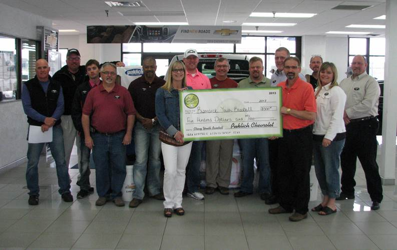 Puklich Chevrolet Supports Youth Baseball Bismarck Parks Recreation