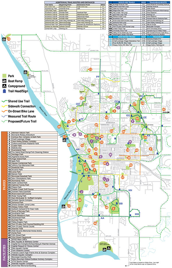 Park Trail Maps Bismarck Parks Recreation