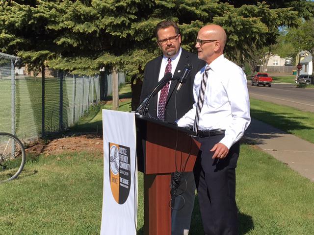 Bismarck Mandan is a Bicycle Friendly Community Mayor Mike Seminary and Mayor Arlyn Van Beek