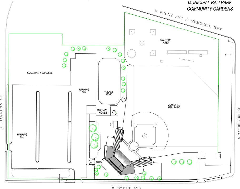 Bismarck Municipal Ballpark - Map 2016