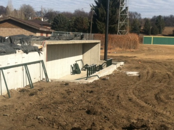 Bismarck Municipal Ballpark construction 1