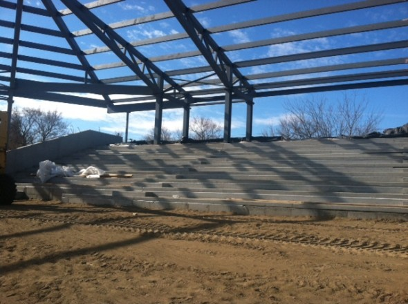 Bismarck Municipal Ballpark construction 2