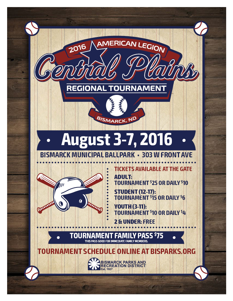 Central Plains Regional Baseball Tournament – Bismarck Parks ...