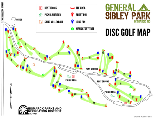 Disc Golf Courses Bismarck Parks Recreation