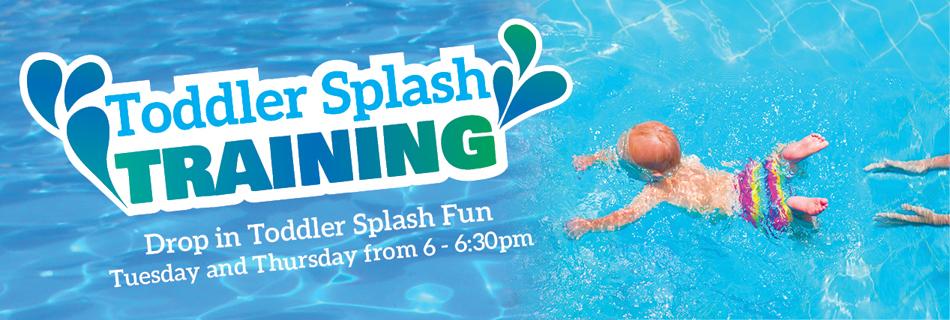Toddler Splash Training, child in water