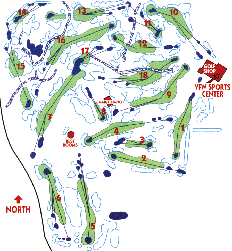 Golf Courses  Bismarck Parks  Recreation - Map of usa golf courses