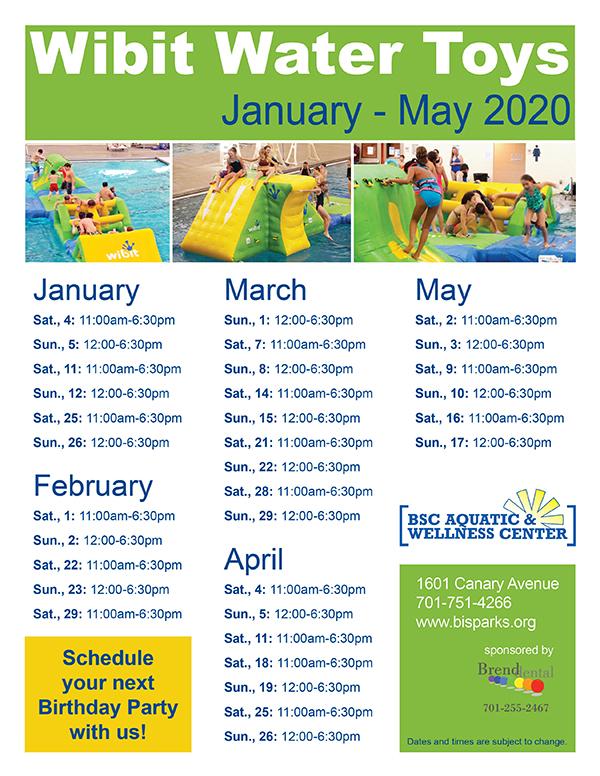 Pool Schedule – Bismarck Parks & Recreation