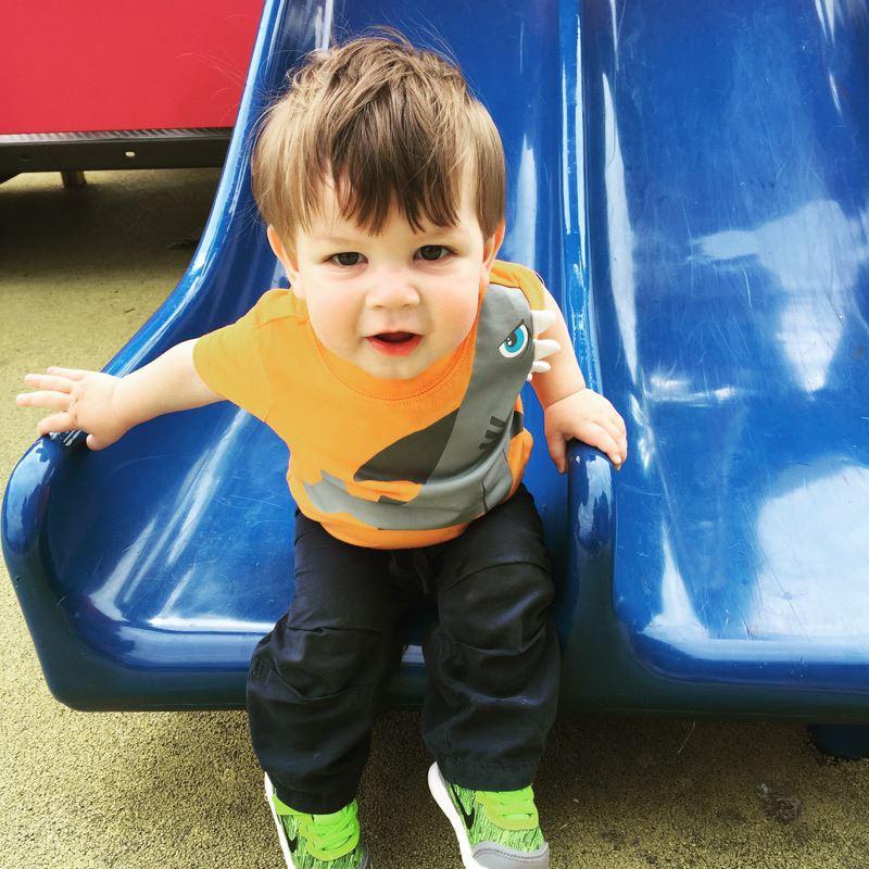happy playground kid