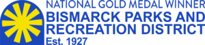 Bismarck Parks and Recreation District logo - National Gold Medal Winner - Established 1927